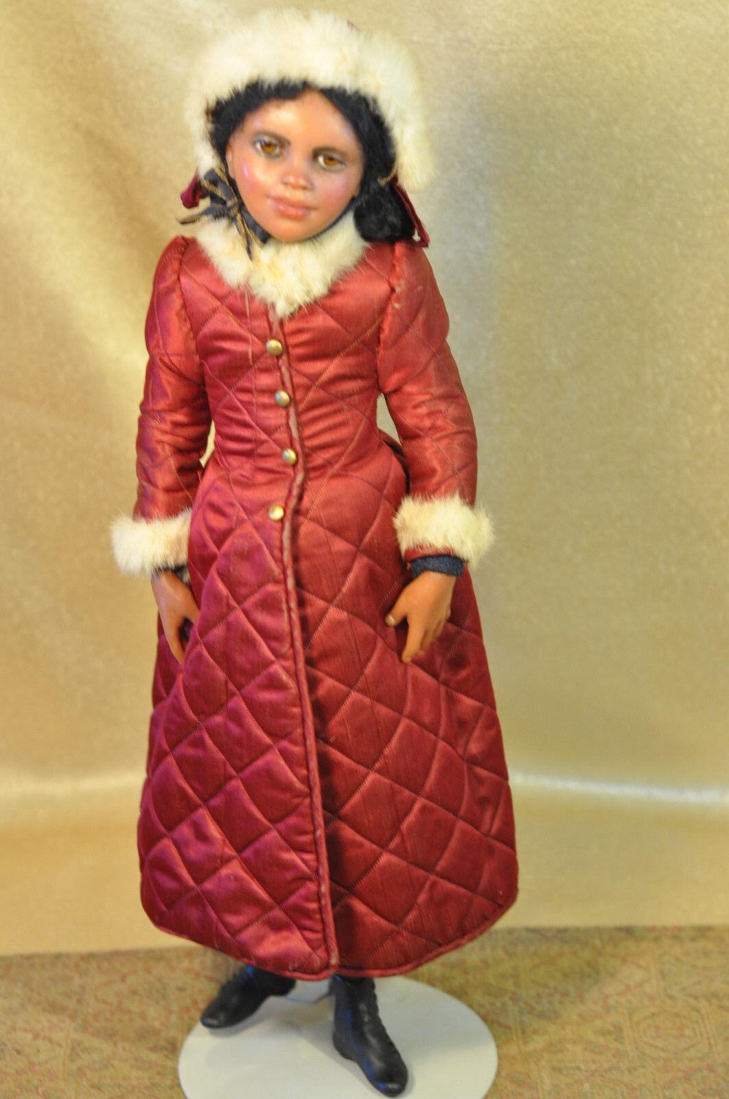 Raro duro encontrar uno de una clase Anna Abigail Brahms 19  Negro Girl Doll Original marcado Muy Buen Estado