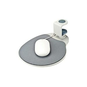 Aidata-Mouse-Platform-Tray-Pad-Gray-Platinum-Color-Under-Desk-Swivel-Ergonomic