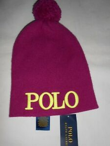 b4ff7c760 Image is loading New-Polo-Ralph-Lauren-Girls-Pink-Hat-RRP-