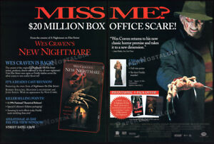 Wes-Craven-039-s-NEW-NIGHTMARE-Original-1995-Trade-print-AD-promo-Freddy-Krueger