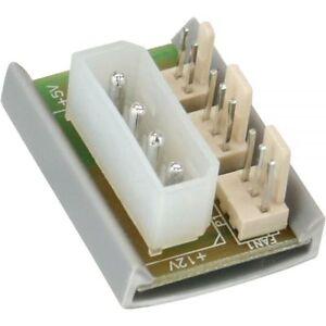 InLine-Luefter-Adapter-Platine-fuer-Gehaeuseluefter-5-25-Zoll-gt-2x-Luefter