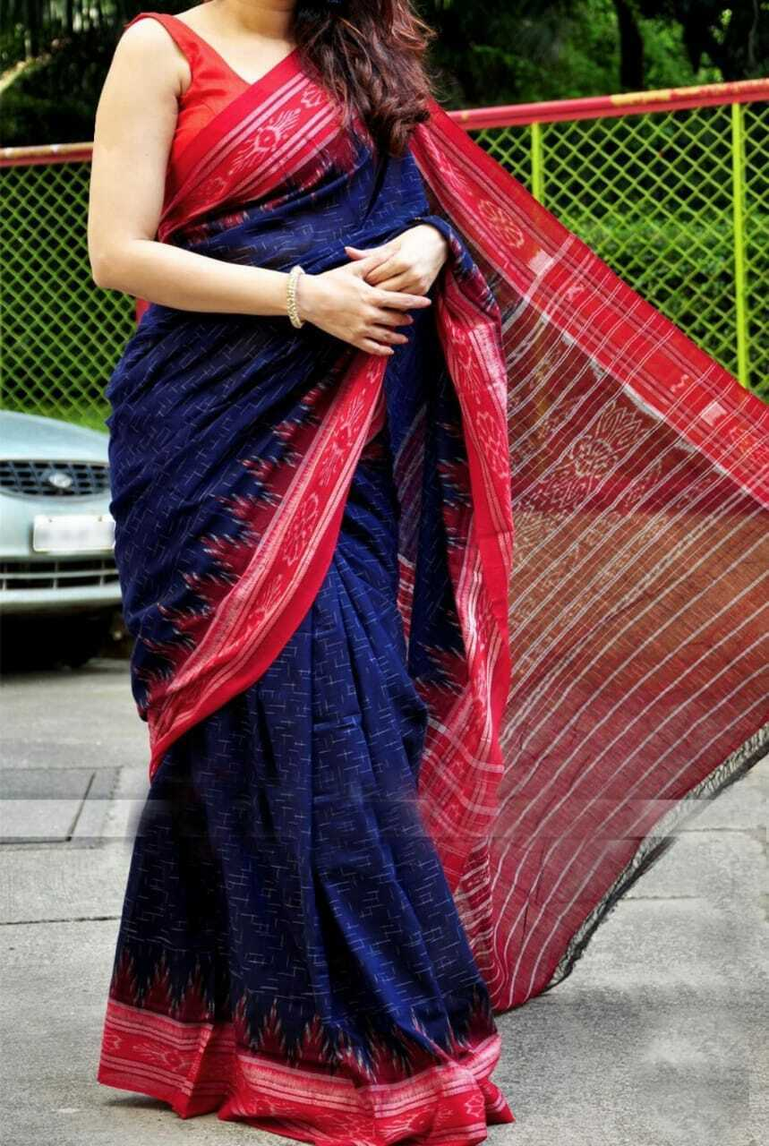 Handcrafted Cotton Sari Handmade Women Dress Cotton Saree Gift For Her & Blouse