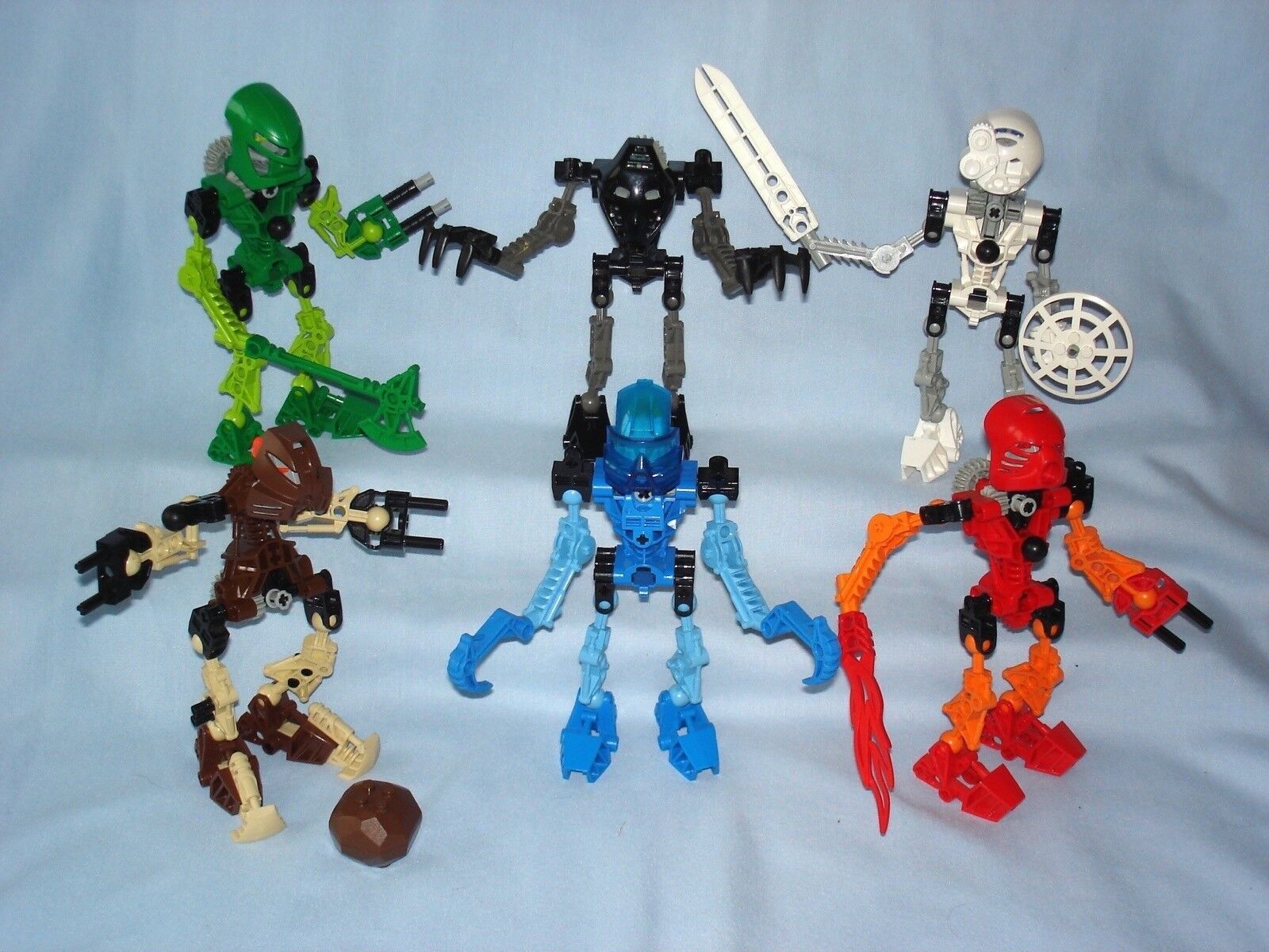 2001 LEGO BIONICLE Original TOA-Lot de  6 - 100% Complet (8531-8536) Mata Nui  pas cher et de haute qualité