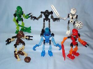 2001-Lego-Bionicle-ORIGINAL-TOA-Set-of-6-100-Complete-8531-8536-Mata-Nui