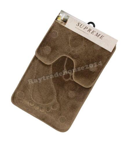 2 ordinateurs foot print luxe et durable en caoutchouc antidérapant tapis de bain soutien padestal ST