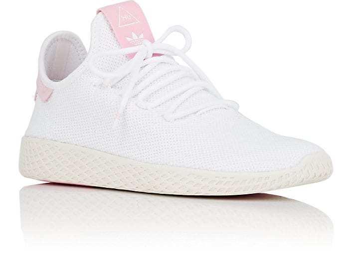 NIB  110 Adidas Pharrell Williams Tennis Hu Sneakers Women's White Sz 8