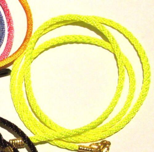 "Black Gold Toned Eye sun Glasses  lanyard 24/"" Satin Braided Nylon Cord"