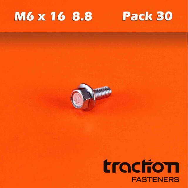 Qty 20 Hex Set Screw M8 x 30mm Zinc Plated High Tensile Class 8.8 Bolt 8mm