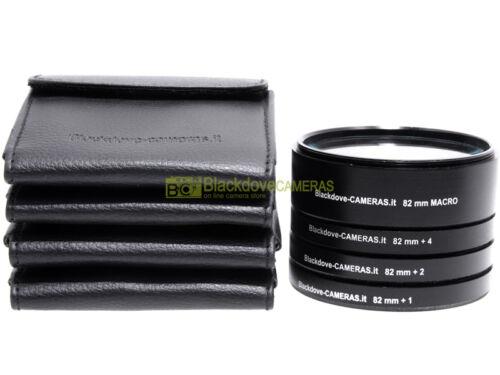 1 kit 4 aggiuntivi 4 diottrie e Macro Blackdove-cameras con custodie. 82mm 2
