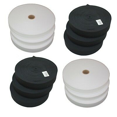 Free P/&P 6mm General Purpose Braided Elastic Black or White