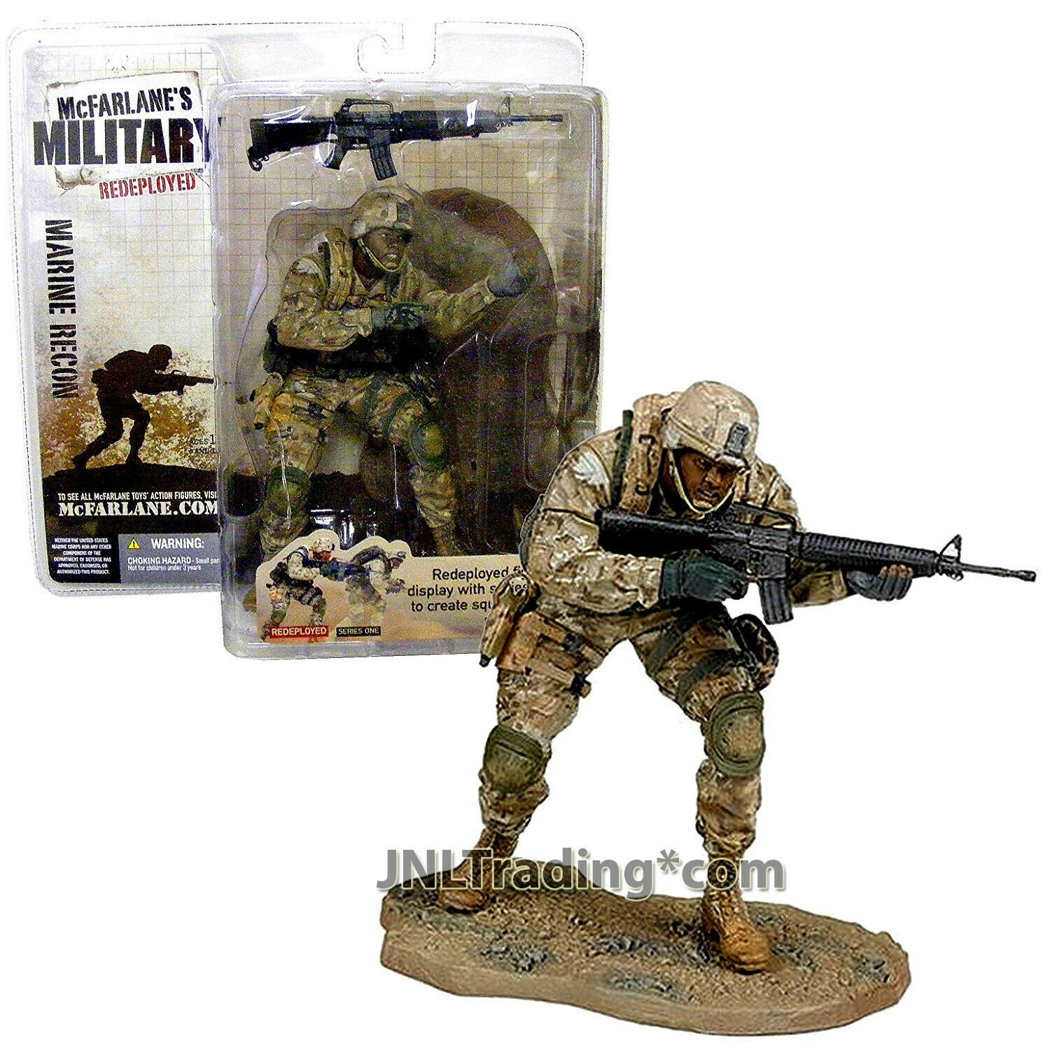 Year 2005 Military rossoeployed 6  Soldier Figure MARINE RECON (African American)