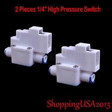 "2 Pcs 1/4"" High Pressure Switch For Pump RO Water Fitlers Reverse Osmosis Parts*"