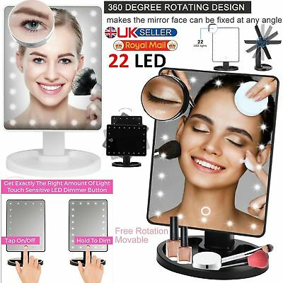 Led Light Illuminated Make Up Mirror Cosmetic With Magnification Round Mirror In Pain