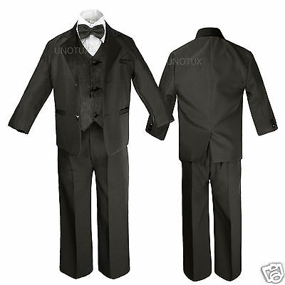 Baby Toddler Kid Teen Boy Wedding Formal Party Tail Tuxedo Suit sz S-20 0M-18yr