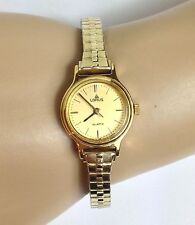 LORUS BY SEIKO GOLD ON GOLD TONE SMALL FACE WATCH W/ SPEIDEL STETCH BAND