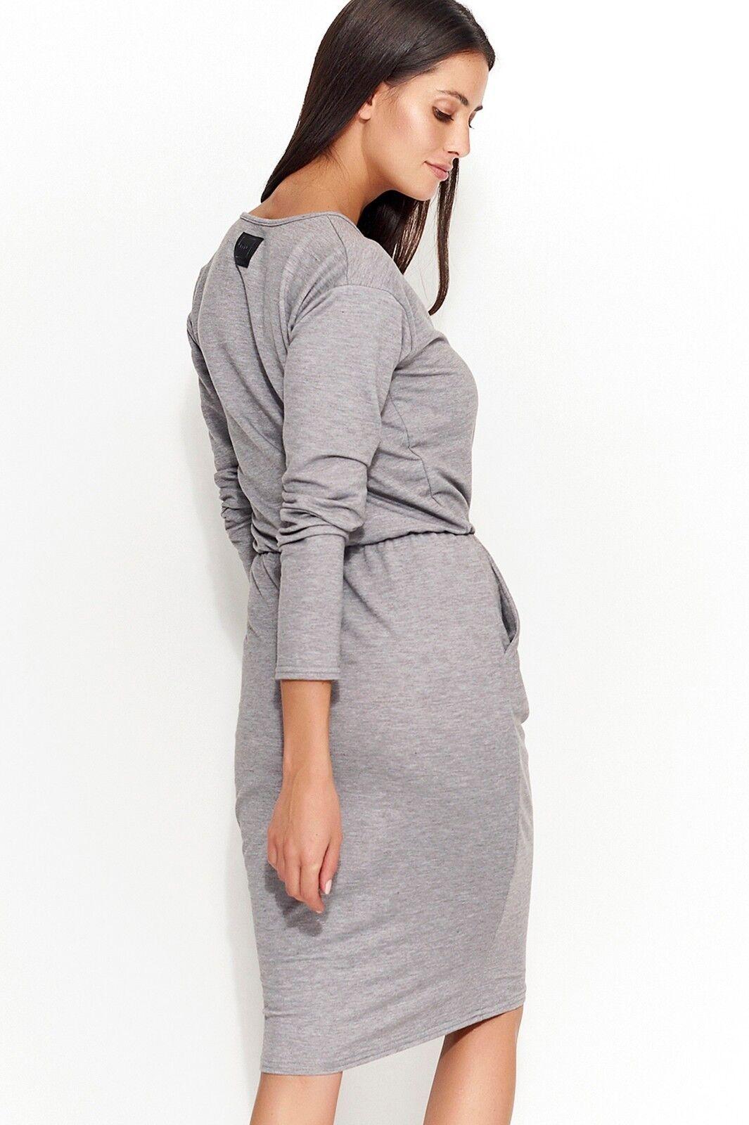 Damen Rundkragen Lange Ärmel Ärmel Ärmel Damen Midi Kleid mit Elastik Größen Taschen Fm157   | Professionelles Design  | Öffnen Sie das Interesse und die Innovation Ihres Kindes, aber auch die Unschuld von Kindern, kindlich, glücklich  | Schöne Kunst  | Das hochwe 971ca8