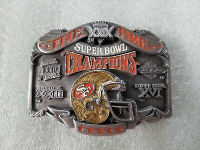 9b174d31 San Francisco 49ers 5 Time Super Bowl Champs Belt Buckle Ltd Ed 2177/10k  SFB076 | eBay