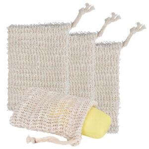 Eco-Friendly-Natural-Sisal-Soap-Bag-Soap-Saver-Mesh-Exfoliator-Foaming-Pouch