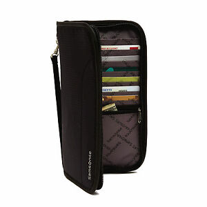 Samsonite RFID Zip Close Travel Wallet Black - Luggage