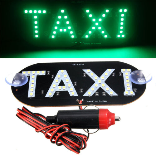 Auto Green 45 LED Cab Taxi Roof Sign Light 12V Vehical Inside Windscreen Lamp FO