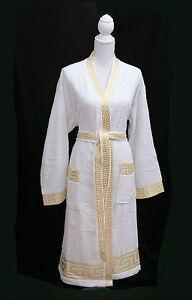 Gold Baumwolle 100 M Versac Meander Bademantel Wei Medusa ander Kimono Rug wqqxO0n7r