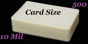 Card-Size-500-10-Mil-Hot-Laminating-Laminator-Pouches-2-5-8-x-3-7-8-Sleeve-039-s