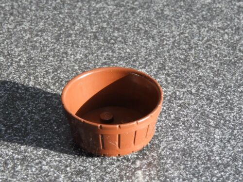 Lego Round Container Reddish Brown Farm Bucket