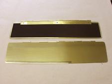 Innenklappe-350 x 80 mm-Briefeinwurf-Briefklappe-Zugluftstoppe-MESSING NEU Groß