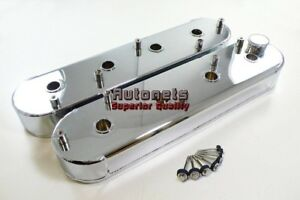 Details about Chrome Fabricated Aluminum Chevy LS1 LS2 LS3 LS6 Valve Covers  Coil Studs Mount