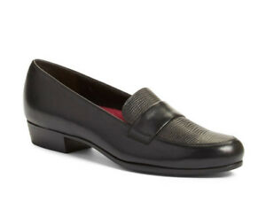 Munro-Leather-Loafer-Kiera-Women-039-s-Slipon-Shoe-Size-5-5M-Black-NEW-209