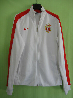 Veste As Monaco Fc Nike Blanche et rouge Football Vintage Jacket - M   eBay