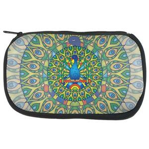 Mandala Trippy Stained Glass Panda Makeup Bag