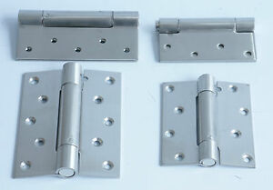2 x FIRE RATED SELF CLOSING DOOR HINGES Single Action Adjustable Spring