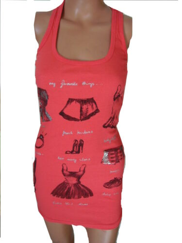 Top Débardeur Shirt T-Shirt Longtop Col Rond Chemise Longue Rouge S M 36 38 40