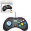 Retro-Bit-Official-Sega-Saturn-Controller-Slate-Gray-transparent miniature 1