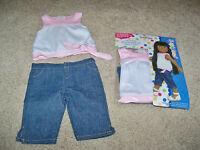 461018 Springfield Collection Shirt & Capris-Pink White-Denim Capris Toys