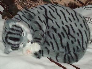 Realistic-Life-Like-Grey-Sleeping-Cat-Fooled-Many-People-House-Trained-White