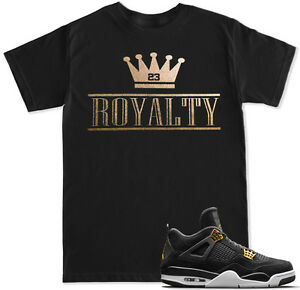 1dae4210a208 ROYALTY Crown Gold T Shirt to match with Air Jordan Retro 4 Gold ...