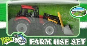 8137-2-Traktor-rot-mit-Frontlader