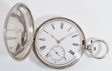 Antique Silver Full Hunter Fusee Lever Pocket Watch by L.Rombach Glasgow c.1882