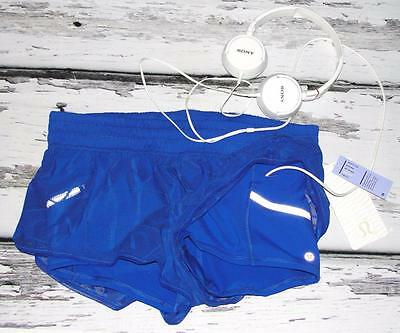 LULULEMON~NWT~LUXTREME® + MESH *CITY SKY RUN BY* RUNNING SHORTS SIDE POCKETS~10
