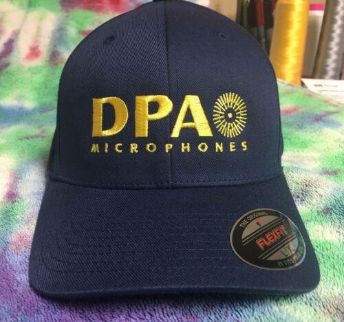 DPA Microphone Logo Embroidered Flexfit Ball Cap Black Navy S//M L//XL XXL