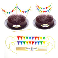 Bunting Cake Topper-Happy Birthday-Rainbow Cake Decoration-1st-100th Birthday