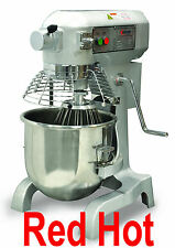 Omcan 20441 Commercial 20 Qt Bakery Dough Food Mixer Gear Driven 1.5 Hp