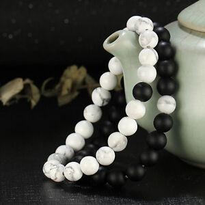 Femmes-Hommes-Bracelets-de-Bouddha-Perles-de-Pierre-Mode-Bracelet-Bijoux
