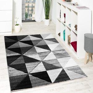 Wohnzimmer Teppich Piramid Design Modern Grau Creme Ausverkauf   eBay