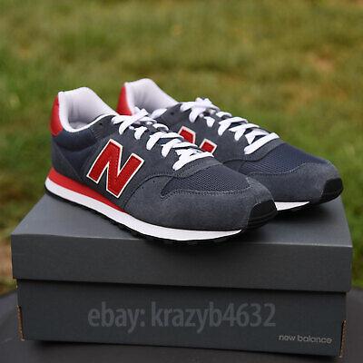 New Balance NB 500 Sneakers GM500SD Men Navy/Red/Light Grey BRAND ...