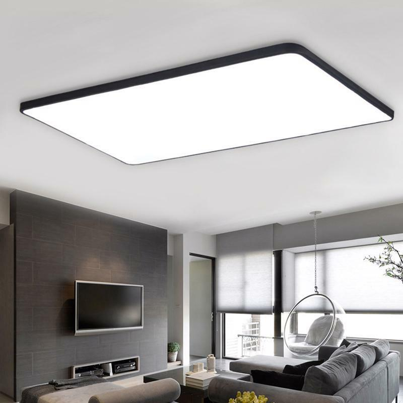 Ceiling LED Lights Thin Square Lighting Dimmable Lamps Chandeliers Home Decors