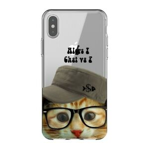 Coque Iphone XS MAX chat casquette