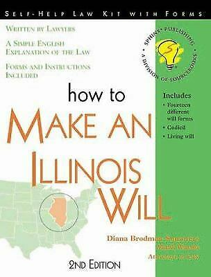 How to Make an Illinois Will by Summers, Diana Brodman -ExLibrary